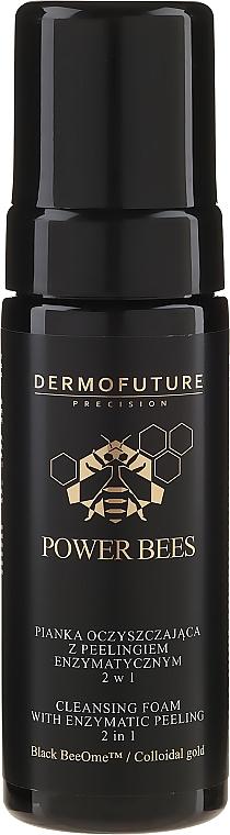 Spumă de curățare cu enzime pentru față 2în1 - Dermofuture Power Bees Cleansing Foam 2in1