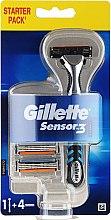 Parfumuri și produse cosmetice Aparat de ras (4 duze de rezervă) - Gillette Blue 3
