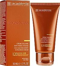 Parfumuri și produse cosmetice Cremă regenerantă de protecție solară pentru față SPF 20+ - Academie Bronzecran Face Age Recovery Sunscreen Cream