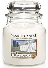 Parfumuri și produse cosmetice Lumânare aromată, în borcan - Yankee Candle Clean Cotton
