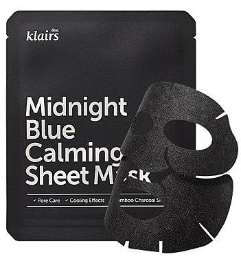 Mască de față - Klairs Midnight Blue Calming Sheet Mask — фото N1