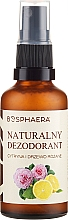 Parfumuri și produse cosmetice Deodorant natural cu lămâie și trandafir - Bosphaera