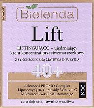 Parfumuri și produse cosmetice Cremă hidratantă anti-rid 40+ - Bielenda Lift Lifting and Firming Anti-wrinkle Cream–concentrate Night