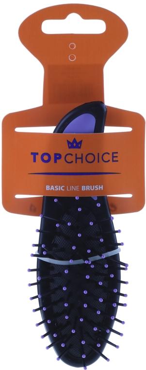 Расческа для волос, 2007, черно-фиолетовая - Top Choice — фото N1