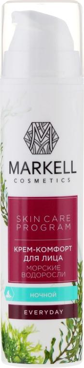 """Cremă de noapte pentru față """"Alge marine"""" - Markell Cosmetics Everyday — Imagine N2"""