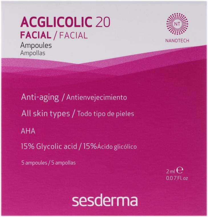 Fiole acțiune complexă cu acid glicolic - SesDerma Laboratories Acglicolic 20 Ampoules — Imagine N1