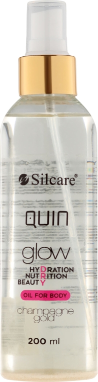 Ulei de corp - Silcare Quin Glow Dry Oil for Body Champagne Gold