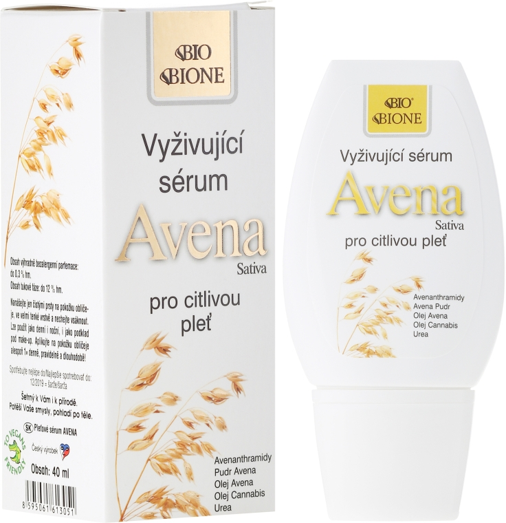 Ser de față - Bione Cosmetics Avena Sativa Nourishing Serum — Imagine N1