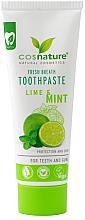 """Parfumuri și produse cosmetice Pastă naturală de dinți """"Lime și mentă"""" - Cosnature"""