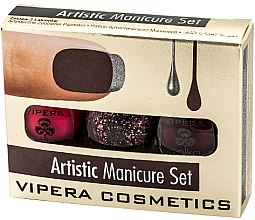 Parfumuri și produse cosmetice Set lacuri de unghii - Vipera Set Artistic Manicure (n/pol/5,5mlx3) (01-Metaphor)