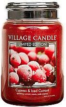 Parfumuri și produse cosmetice Lumânare aromatică - Village Candle Cypress & Iced Currant Glass Jar