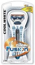 Parfumuri și produse cosmetice Aparat de ras cu o casetă interschimbabilă - Gillette Fusion Cool White