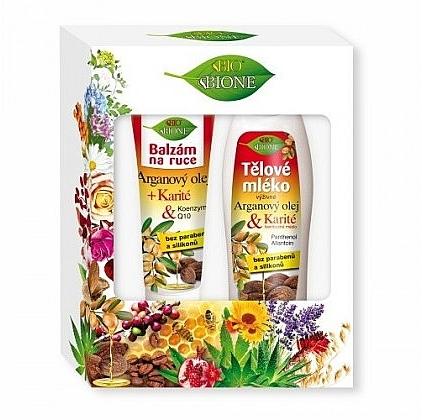 Set - Bione Cosmetics Argan Oil (h/balm/200ml + b/lot/500ml)