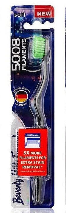 Мягкая зубная щетка, салатовая - Beverly Hills Formula 5008 Filament Multi-Colour Toothbrush — фото N1
