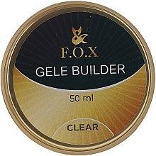 Parfumuri și produse cosmetice Gel de unghii, transparent - F.O.X Gele Builder UV Clear