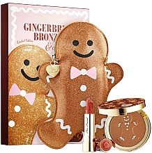 Parfumuri și produse cosmetice Set - Too Faced Gingerbread Bronzed & Kissed Set Limited Edition (bronzer/9g + lipstick/4g)