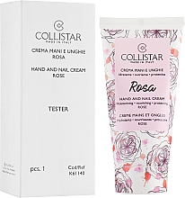 "Parfumuri și produse cosmetice Крем для рук и ногтей ""Роза"" - Collistar Hand And Nail Cream With Rose (тестер)"