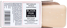Parfumuri și produse cosmetice Săpun natural de gudron - Biomika Black For White