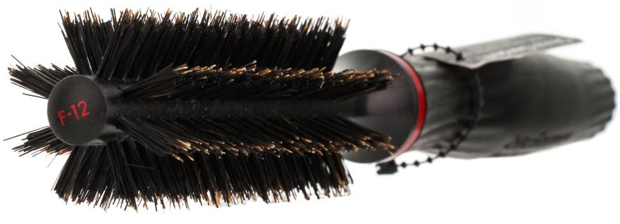 Perie Brushing de plastic, peri naturali, d 12 mm - Olivia Garden Pro Forme F-12 — Imagine N2