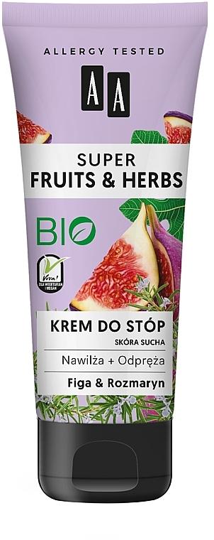 """Cremă pentru picioare """"Smochine și rozmarin"""" - AA Super Fruits & Herbs"""