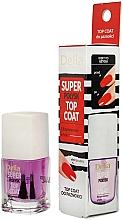 Parfumuri și produse cosmetice Fixator pentru lac de unghii, efect mega-lucios - Delia Super Gloss Top Coat