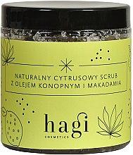 Parfumuri și produse cosmetice Scrub natural de citrice cu ulei de cânepă și macadamie - Hagi Scrub