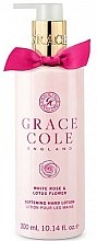 Parfumuri și produse cosmetice Loțiune de mâini - Grace Cole White Rose & Lotus Flower Hand Lotion