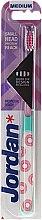 Parfumuri și produse cosmetice Periuță de dinți medium, roz - Jordan Individual Reach Toothbrush