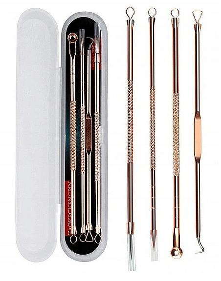 Set accesorii pentru curățarea pielii de punctele negre, aurii - Deni Carte