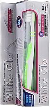Parfumuri și produse cosmetice Set cu periuță de dinți verde deschis - White Glo Sensitive Forte Set (toothpaste/100ml + toothbrush/1pc + t/pick/8pc)