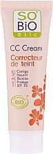 Parfumuri și produse cosmetice CC-cream, 5in1 SPF 10 - So'Bio Etic CC Cream