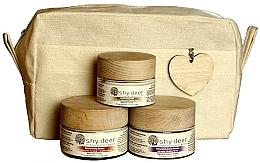 Parfumuri și produse cosmetice Set pentru îngrijirea pielii uscate și normale - Shy Deer Natural Ritual Set (cr/mask/50ml + cr/50ml + eye/cr/30ml + bag)