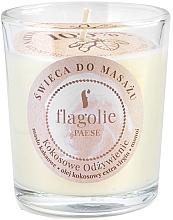 """Parfumuri și produse cosmetice Lumânare de masaj """"Cocos nutritiv"""" în pahar de sticlă - Flagolie Coconut Nutrition Massage Candle"""