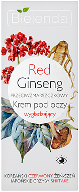Cremă cu extract de ginseng roșu pentru zona ochilor - Bielenda Red Ginseng — Imagine N1
