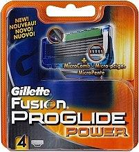 Parfumuri și produse cosmetice Casete de rezervă pentru aparat de ras, 4 buc. - Gillette Fusion ProGlide Power