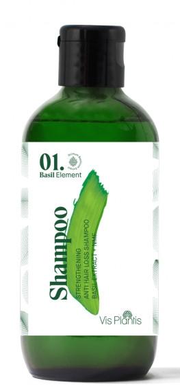 Șampon pentru întărirea părului - Vis Plantis Basil Element Strengthening Anti-Hair Loss Shampoo (mini) — Imagine N1