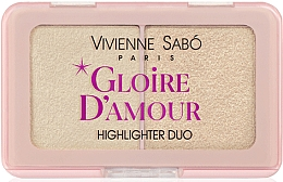 Parfumuri și produse cosmetice Paletă highlighters - Vivienne Sabo Vs Gloire D'Amour (01 -roz deschis)