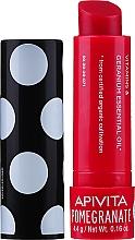 Parfumuri și produse cosmetice Balsam cu ceară de albine și rodie pentru buze - Apivita Ruby Lips Limited Edition 40 Years Lip Care Pomegranate