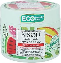 """Parfumuri și produse cosmetice Scrub de corp """"Hrănitor"""" cu extract de pepene verde și mango - Bisou I feel... Nature Nourishing Body Scrub"""
