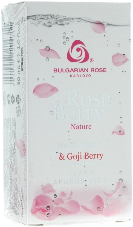 Ser pentru zona ochilor - Bulgarian Rose Rose Berry Nature Serum Around Eyes — Imagine N3