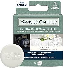 Parfumuri și produse cosmetice Aromatizator auto - Yankee Candle Car Powered Fragrance Refill Fluffy Towels (rezervă)
