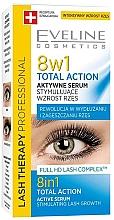 Parfumuri și produse cosmetice Ser pentru gene, 8 în 1 - Eveline Cosmetics Eyelash Serum Total Action 8in1