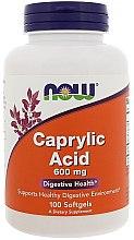 Parfumuri și produse cosmetice Acid caprilic, 600 mg - Now Foods Caprilyc Acid