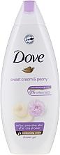 """Parfumuri și produse cosmetice Cremă-gel de duș """"Vanilie și bujor"""" - Dove Purely Pampering Creamy Vanilla And Peony"""