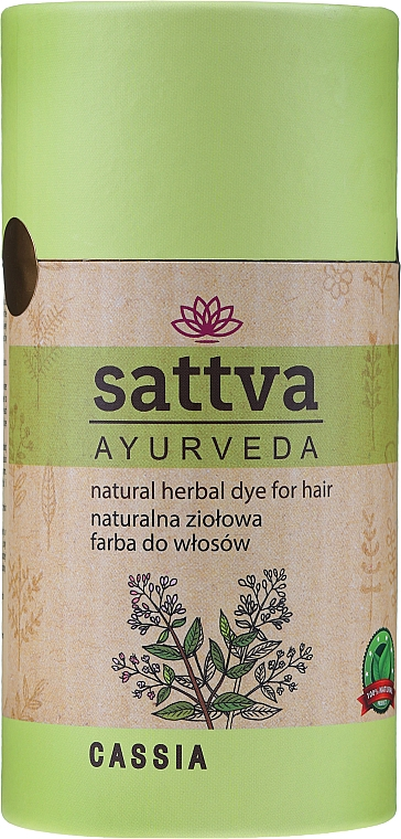 Vopsea de păr (henna) - Sattva Ayuvrveda (Czarna) — Imagine N7