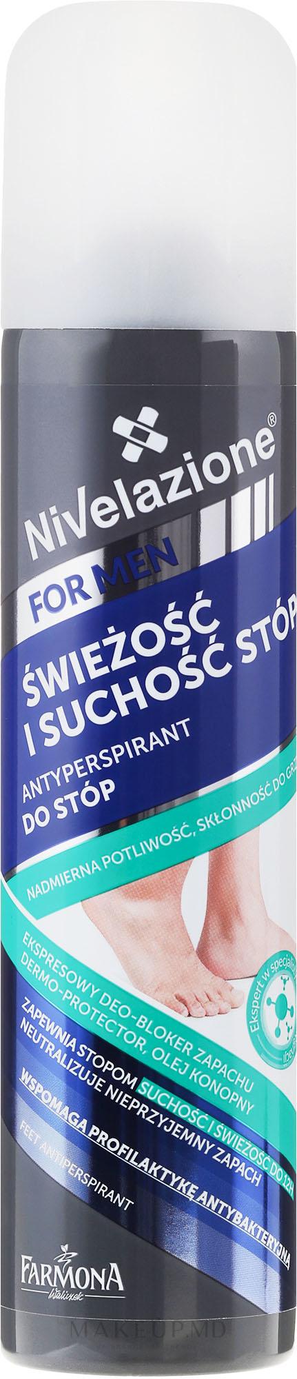 Deodorant pentru picioare - Farmona Nivelazione For Men Feet Antiperspirant — фото 180 ml
