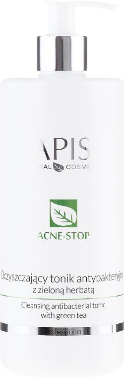 Tonic facial cu extract de ceai verde - APIS Professional Cleansing Antibacterial Tonic