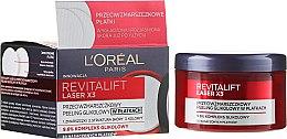 Parfumuri și produse cosmetice Cremă-peeling împotriva ridurilor pentru față - L'Oréal Paris Revitalift Laser X3