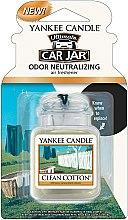 "Parfumuri și produse cosmetice Aromatizator auto ""Bumbac pur"" - Yankee Candle Car Jar Ultimate Clean Cotton"
