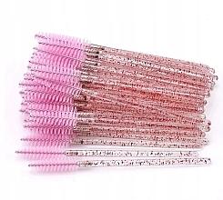 Parfumuri și produse cosmetice Perii de unică folosință pentru gene și sprâncene, roz translucid - Lewer